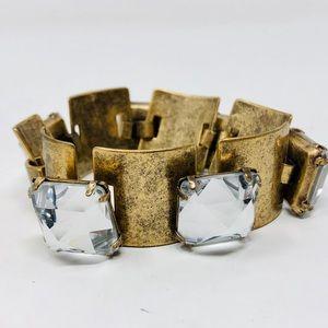 Like 🆕 J CREW antiqued gold, rhinestone bracelet